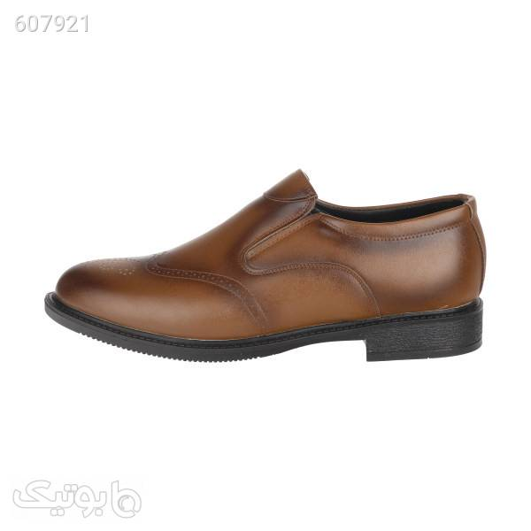 کفش مردانه مدل k.baz.085 قهوه ای كفش مردانه