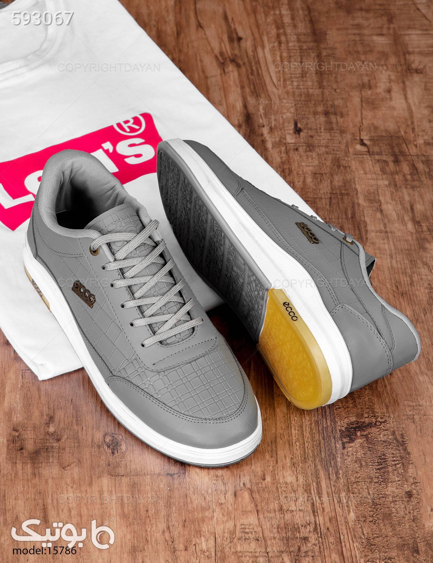 کفش مردانه Ecco مدل 15786 نقره ای كفش مردانه