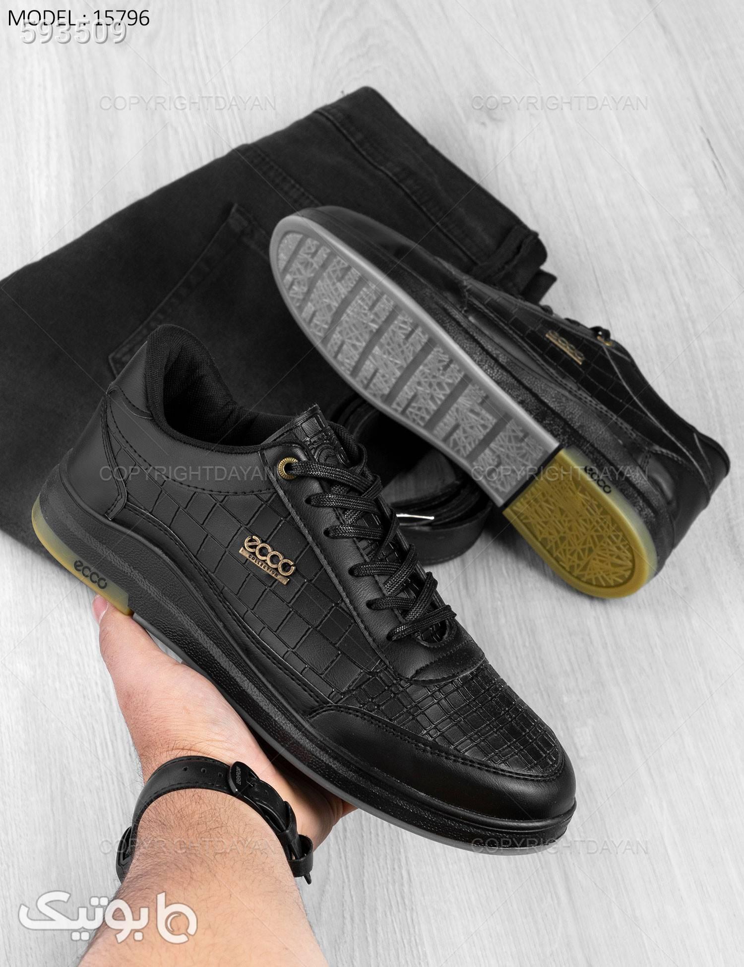 کفش مردانه Ecco مدل 15796 مشکی كفش مردانه