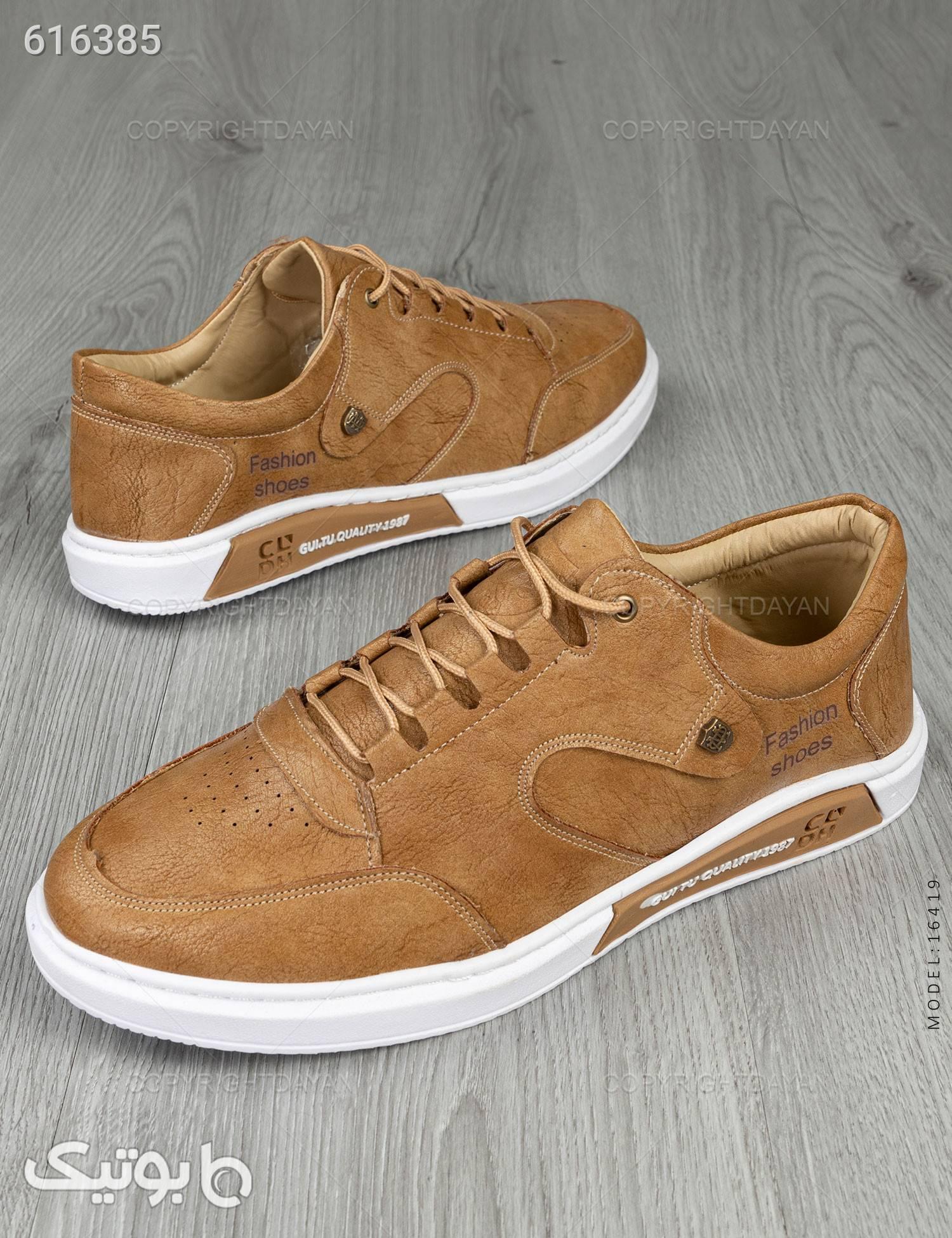 کفش مردانه Fashion مدل 16419 قهوه ای كفش مردانه
