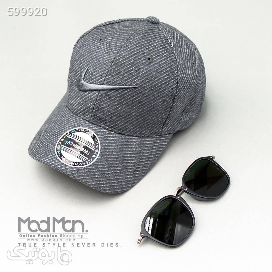 کلاه لبه گرد Nike طوسی کلاه و اسکارف