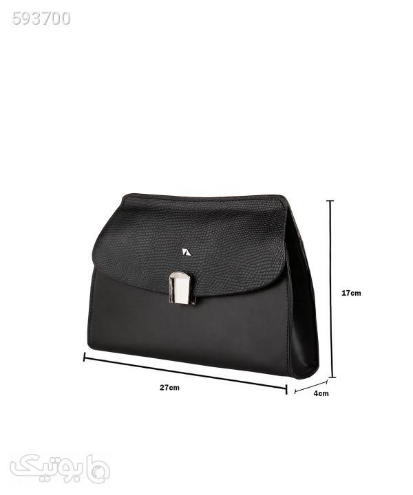 کیف دوشی زنانه چرم مشهد Mashhad leather مدل S0709 مشکی كيف زنانه