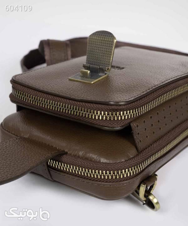 کیف پاسپورتی مردانه مارال چرم Maral Leather مدل آکسفورد قهوه ای كيف مردانه