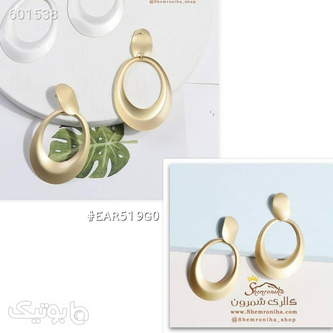 گوشواره آویزی حلقه طلایی گوشواره