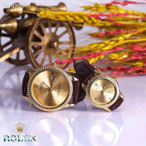 ست ساعت مچی ROLEX مدل 1258 قهوه ای 99 2020
