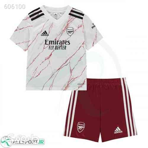 پیراهن شورت بچه گانه دوم آرسنال Arsenal 202021 Away Soccer Jersey Kids ShirtShort سفید 99 2020