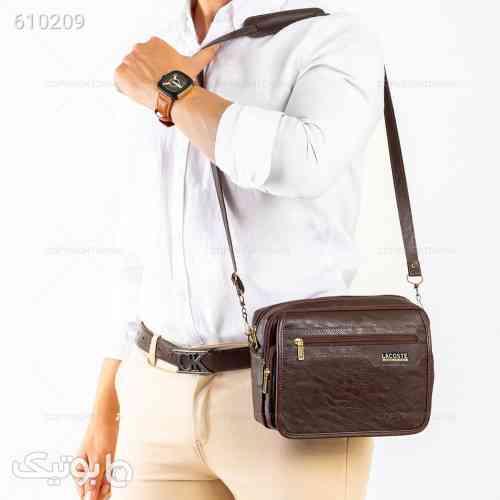 کیف دوشی اسپرت برند Lacoste  زرشکی 99 2020