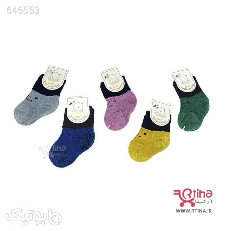 جوراب بوکله ای نوزادی مدل Kauile Baobei سبز اکسسوری نوزاد
