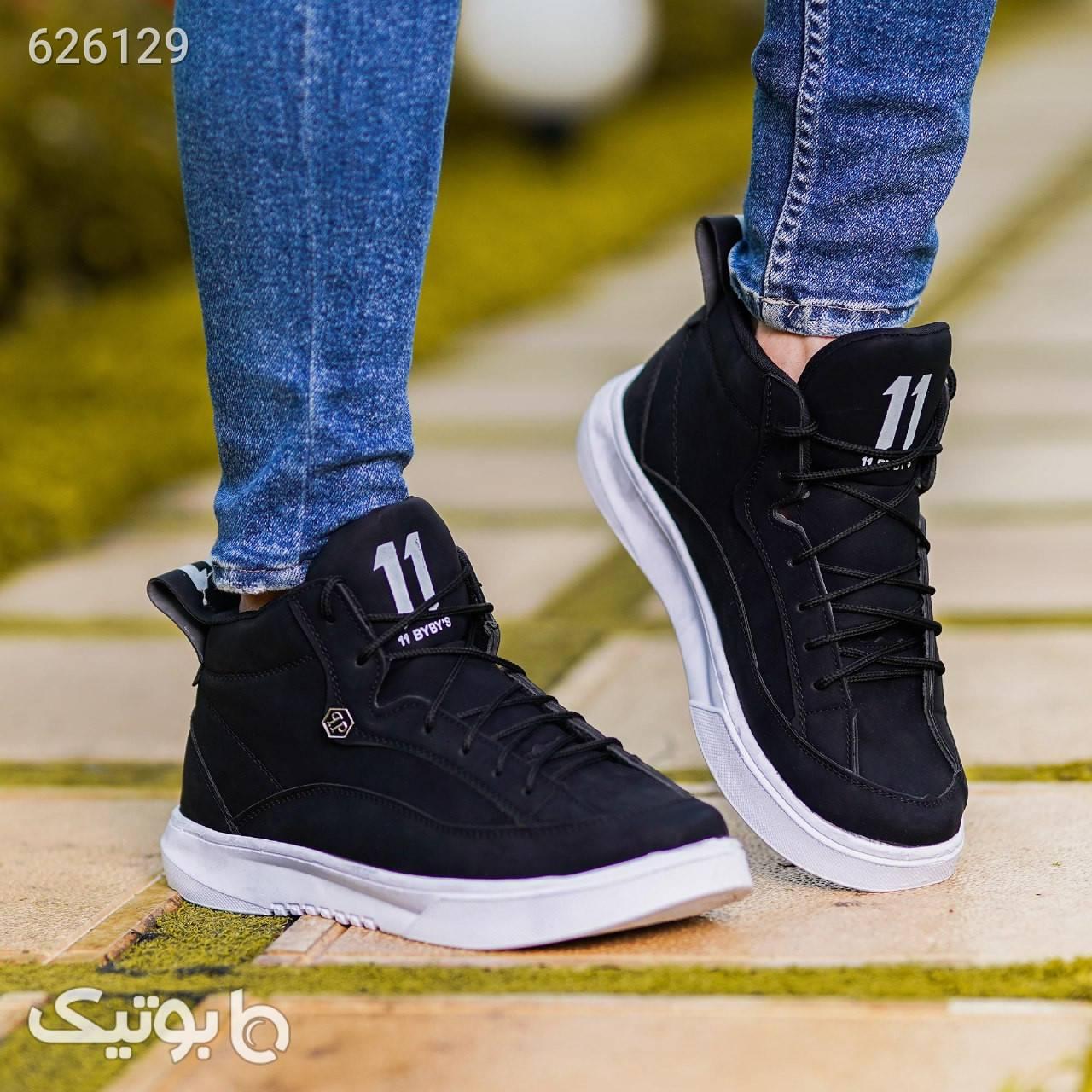 کفش ساقدار  مشکی بوت مردانه