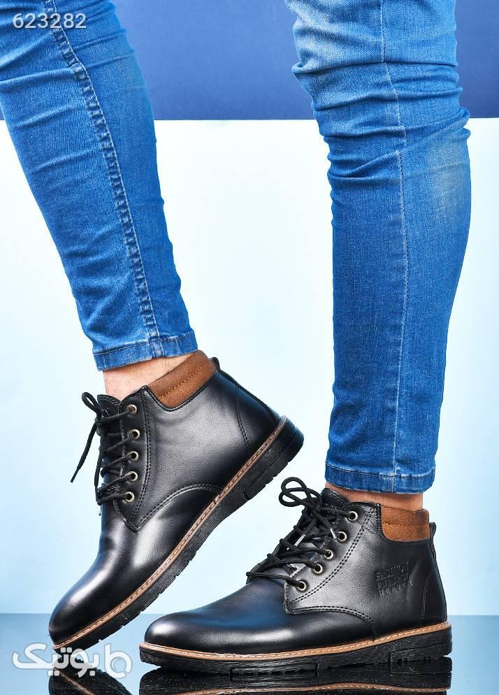 کفش نیم بوت مشکی مردانه مدل یانا مشکی بوت مردانه