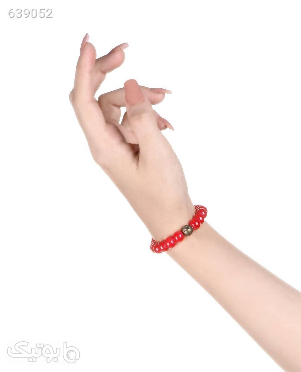 دستبند مهره ای سنگیقرمز دستبند و پابند