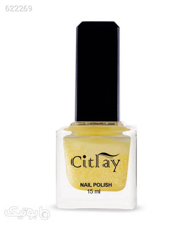 لاک ناخن اکلیلی سیترای Citray حجم 15 میلیلیتر زرد زیبایی ناخن ها