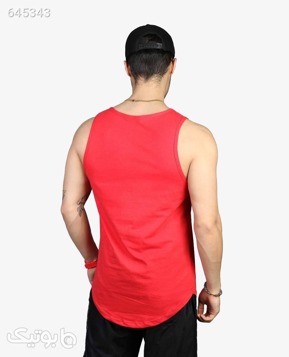 رکابی طرح دار مردانه کد 9482RedL قرمز ست ورزشی مردانه