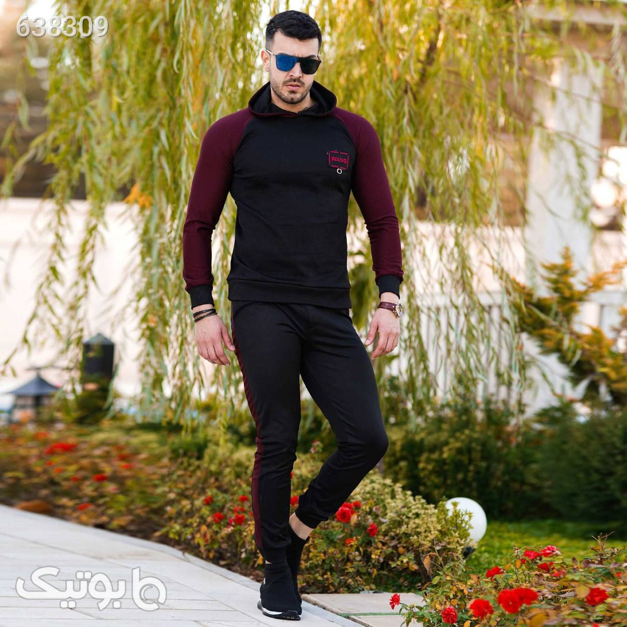 ست سویشرت وشلوار مردانه مدل Nakisa مشکی ست ورزشی مردانه