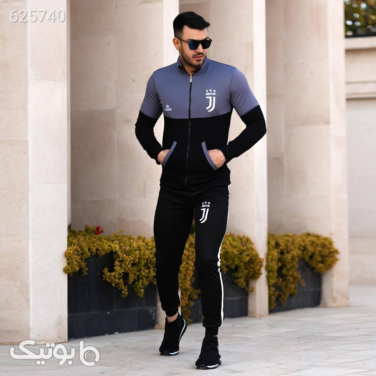 ست سویشرت و شلوار مردانه مدل Sezin مشکی ست ورزشی مردانه