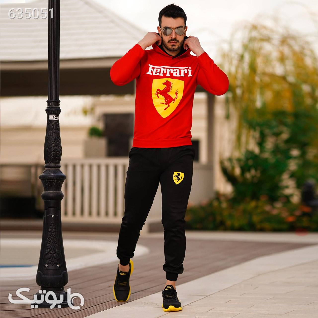 ست سویشرت و شلوارFerrari(زرد،قرمز) مشکی ست ورزشی مردانه
