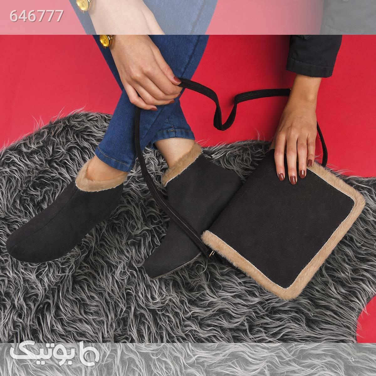 کیف وکفش دخترانه ariana مشکی ست کیف و کفش زنانه