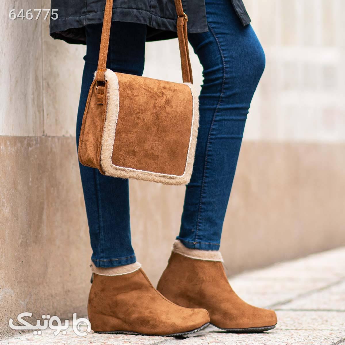 کیف و کفش دخترانه ariana طلایی ست کیف و کفش زنانه