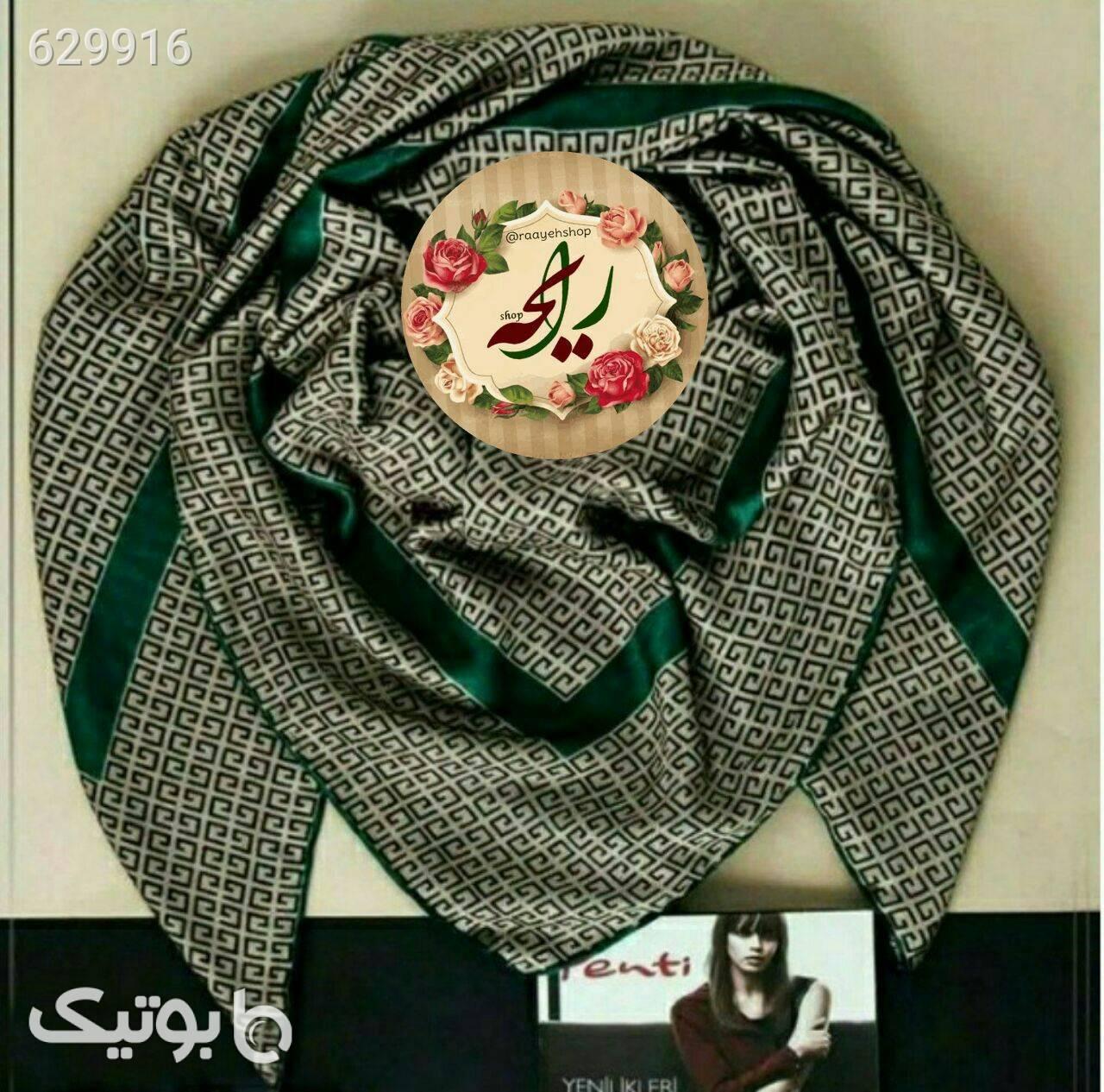 روسری جناقی پاییزی سبز شال و روسری