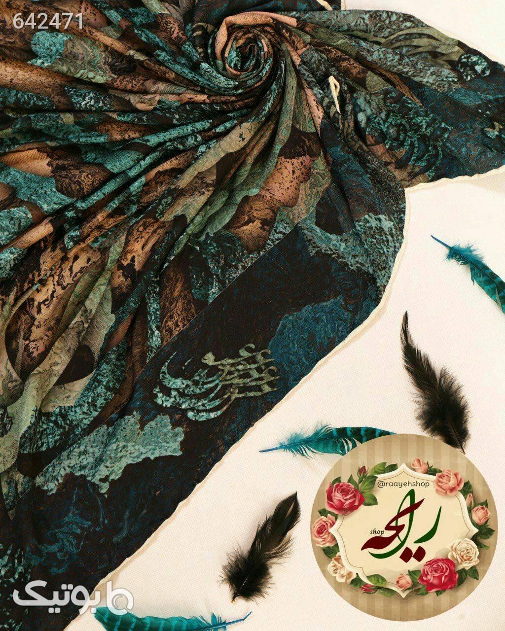 روسری نخی پاییزه قهوه ای شال و روسری