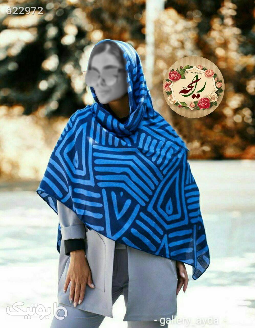 روسری نخی پاییزی نقره ای شال و روسری
