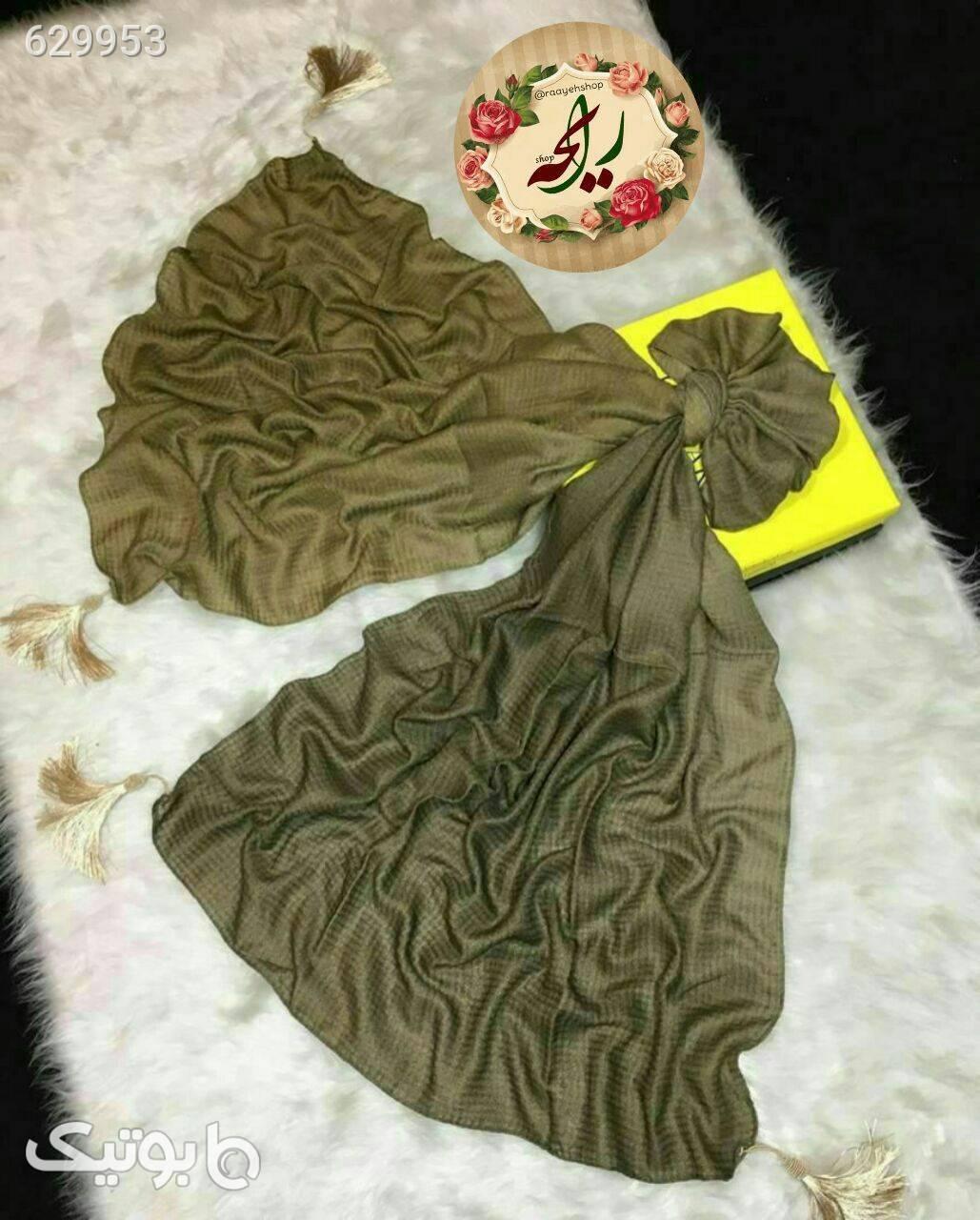 روسری نخی پاییزی کرم شال و روسری