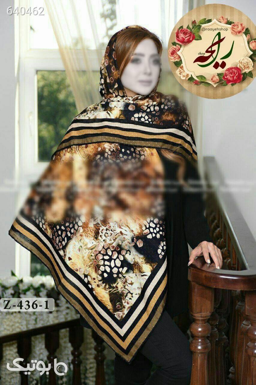 روسری نخی پاییزی زرشکی شال و روسری