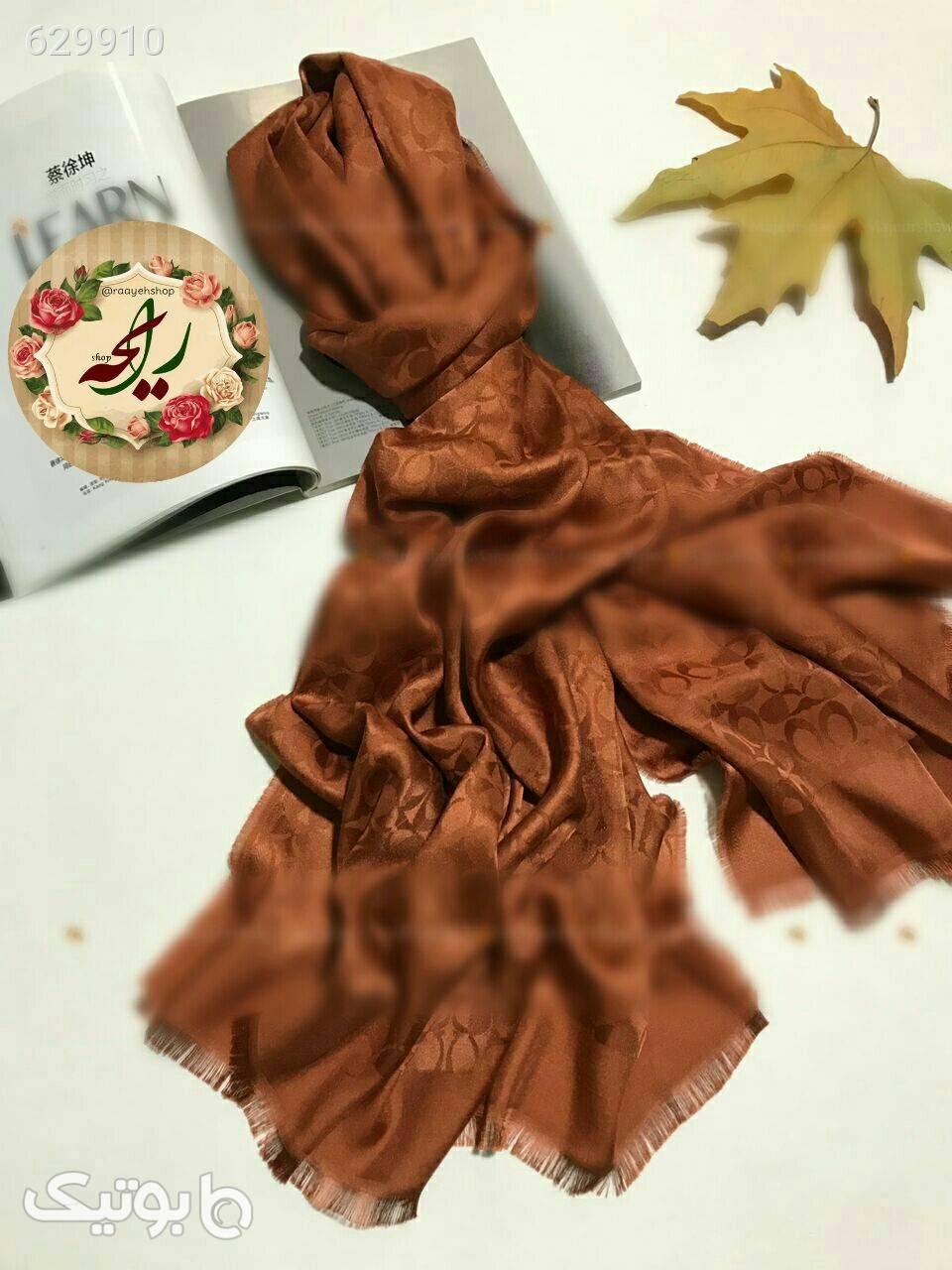 شال ابریشمی  قهوه ای شال و روسری