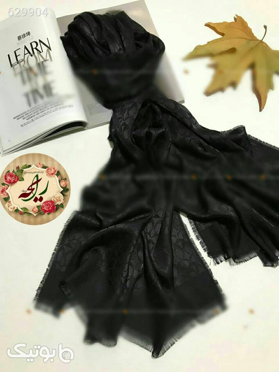 شال ابریشمی مشکی شال و روسری