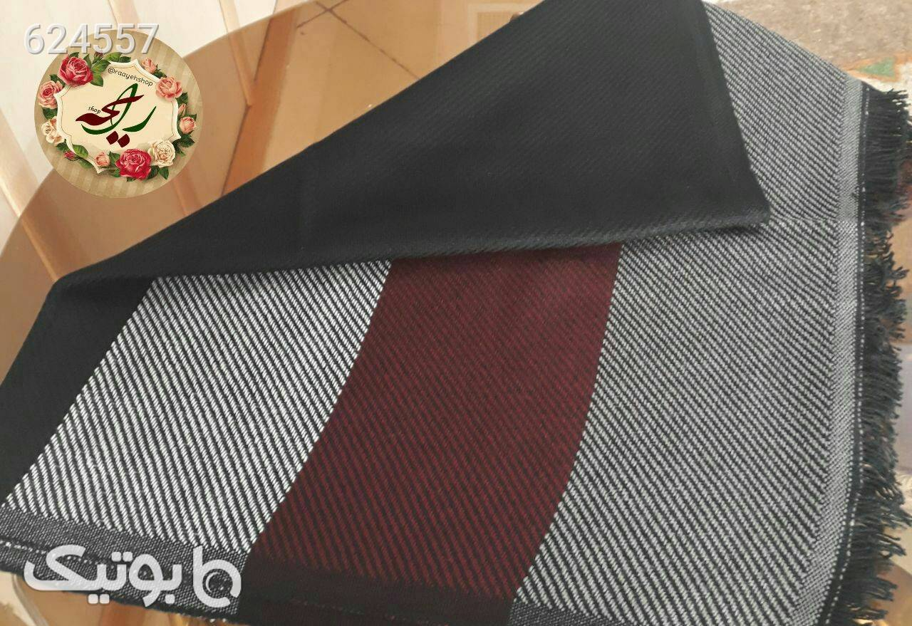 شال ریز بافت حاشیه دار نقره ای شال و روسری