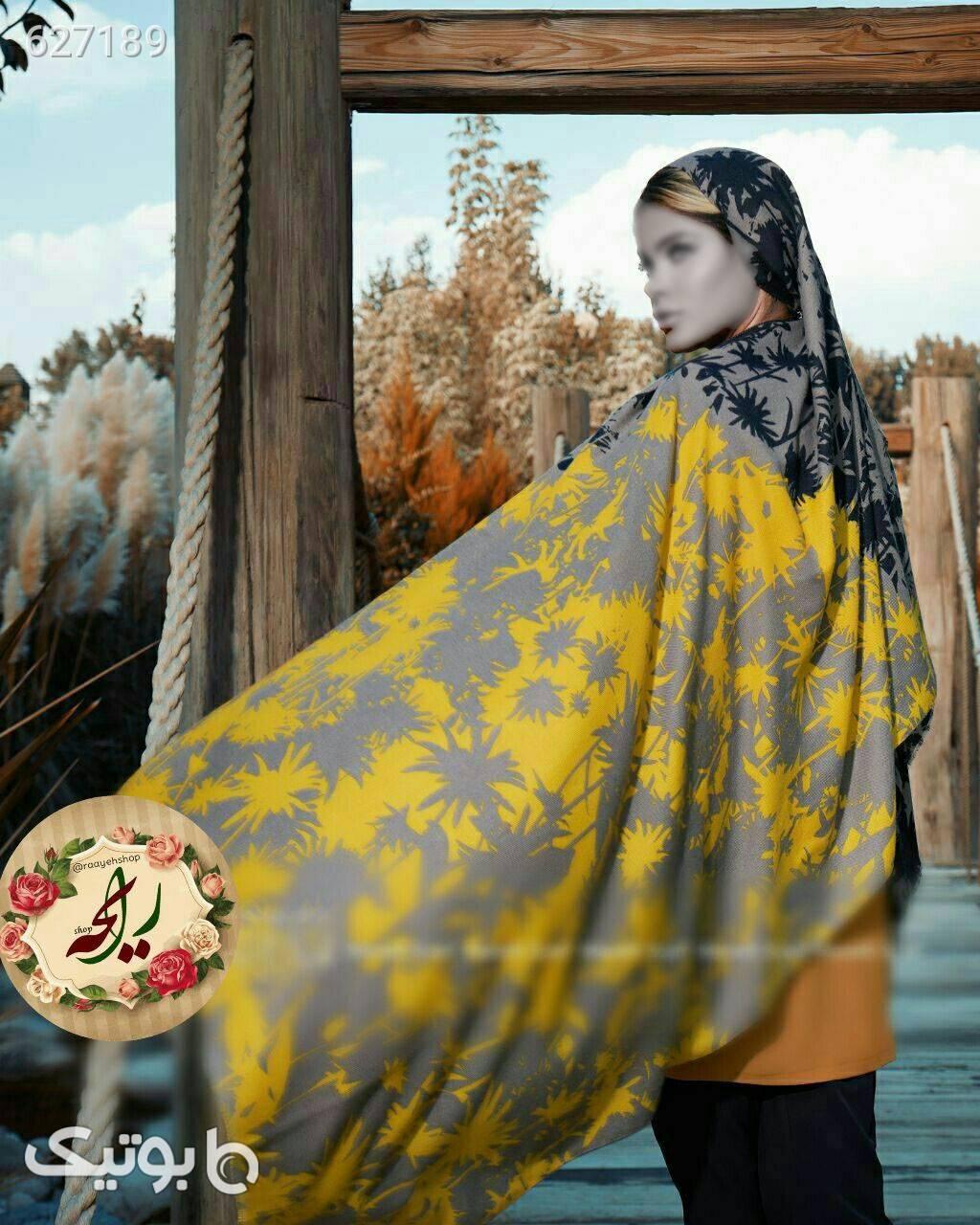 شال موهر پاییزی زرد شال و روسری