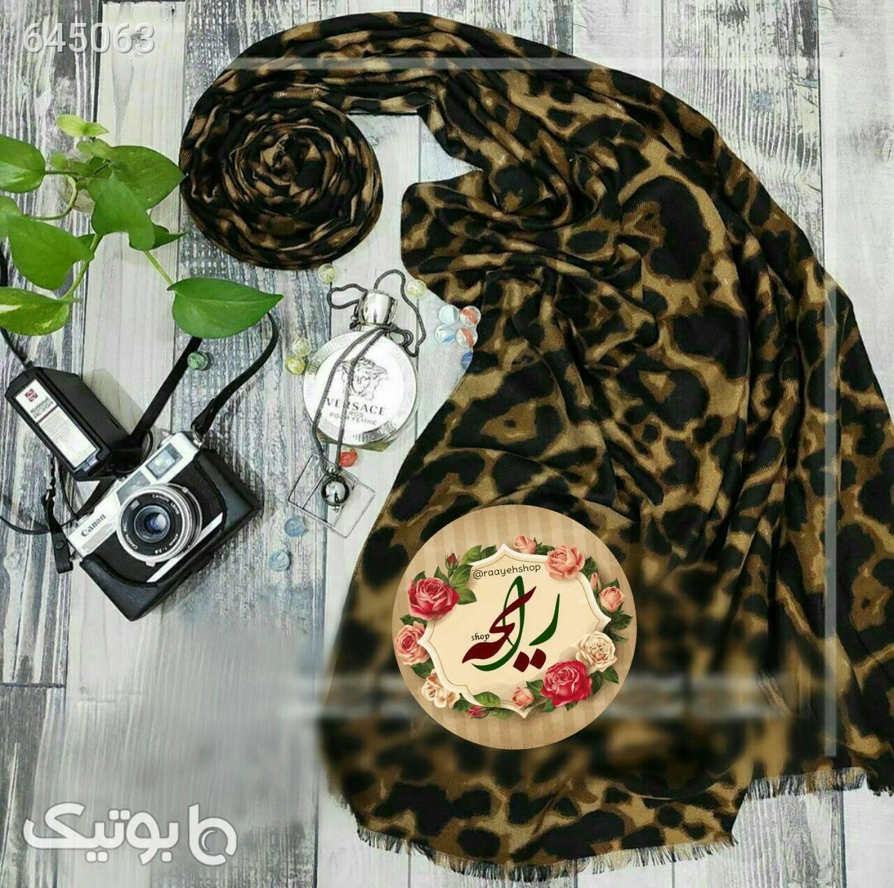 شال پلنگی قهوه ای شال و روسری