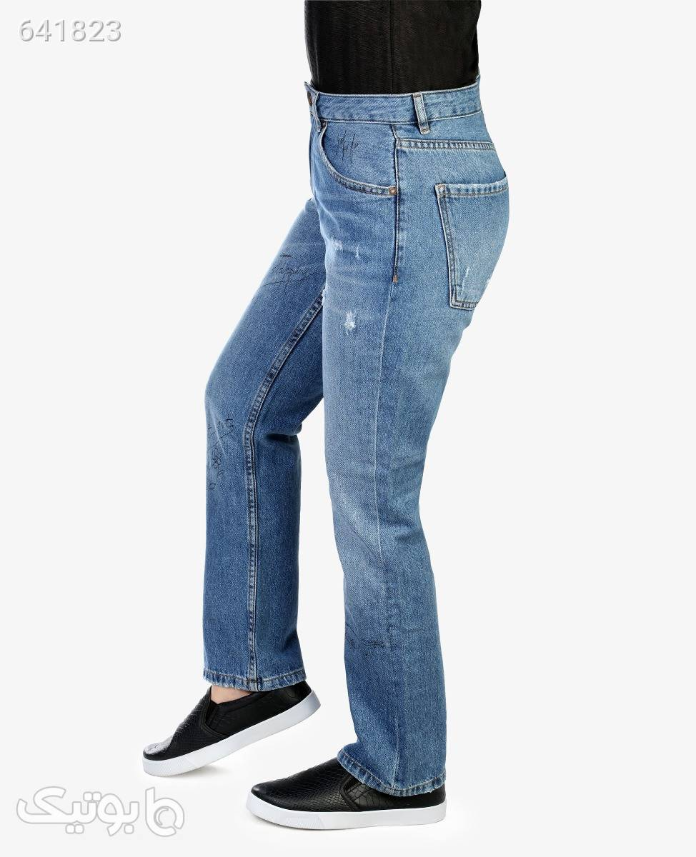 شلوار جین مام استایل زنانه Stradivarius مدل 70387آبی روشن36 شلوار جین زنانه