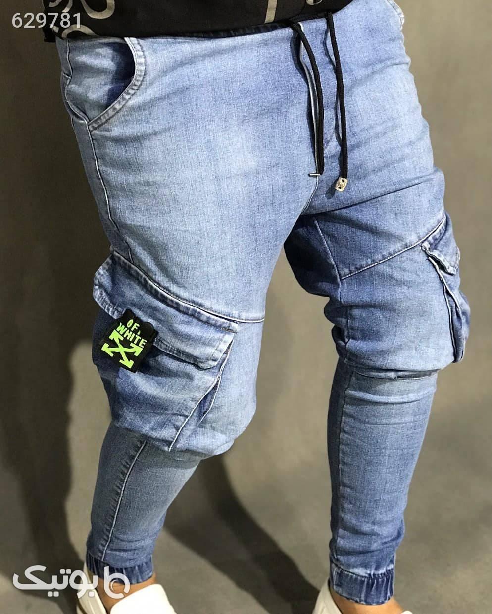 شلوار جین ترک 6 جیب آبی شلوار جین مردانه
