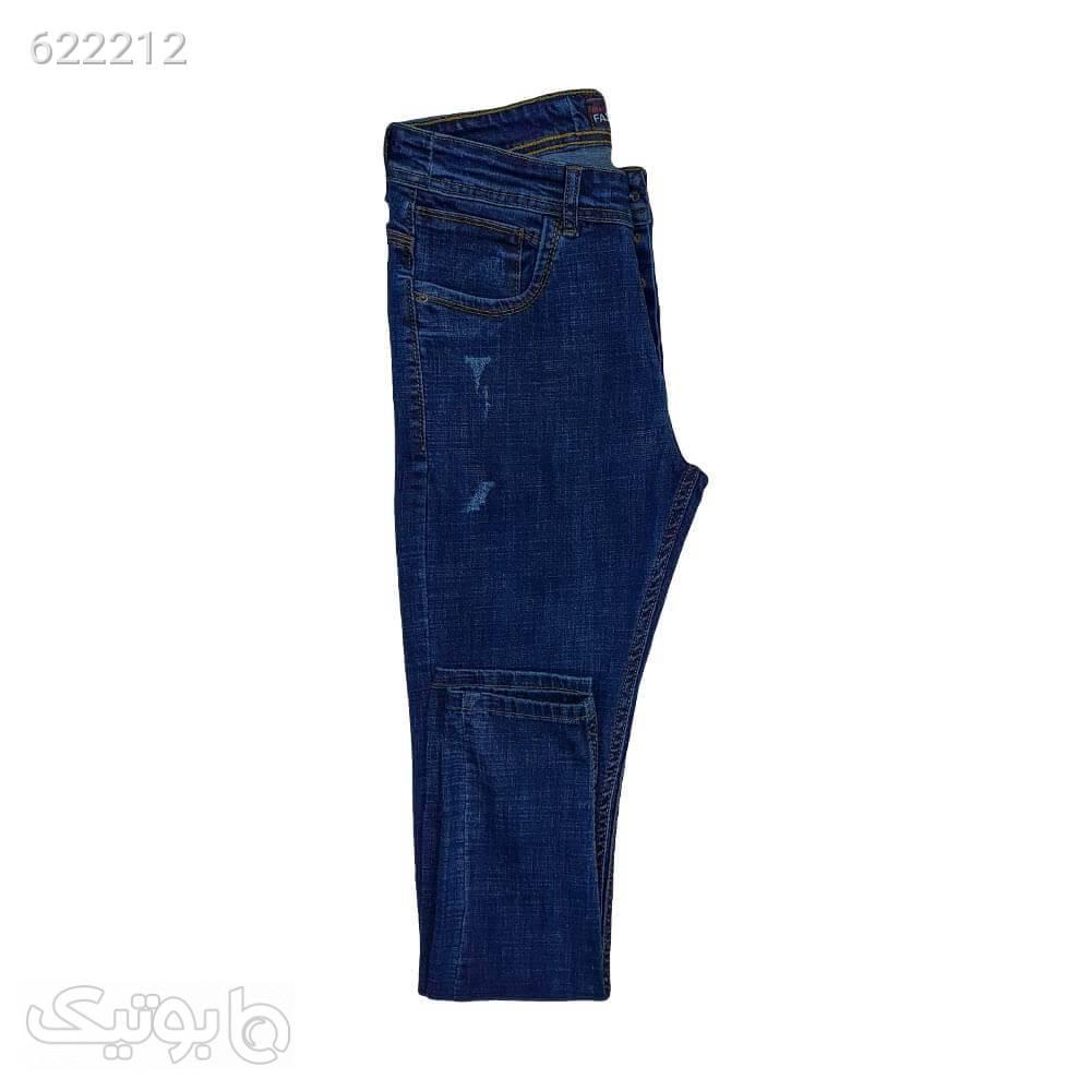 شلوار لی کشی 11124511 سورمه ای شلوار جین مردانه