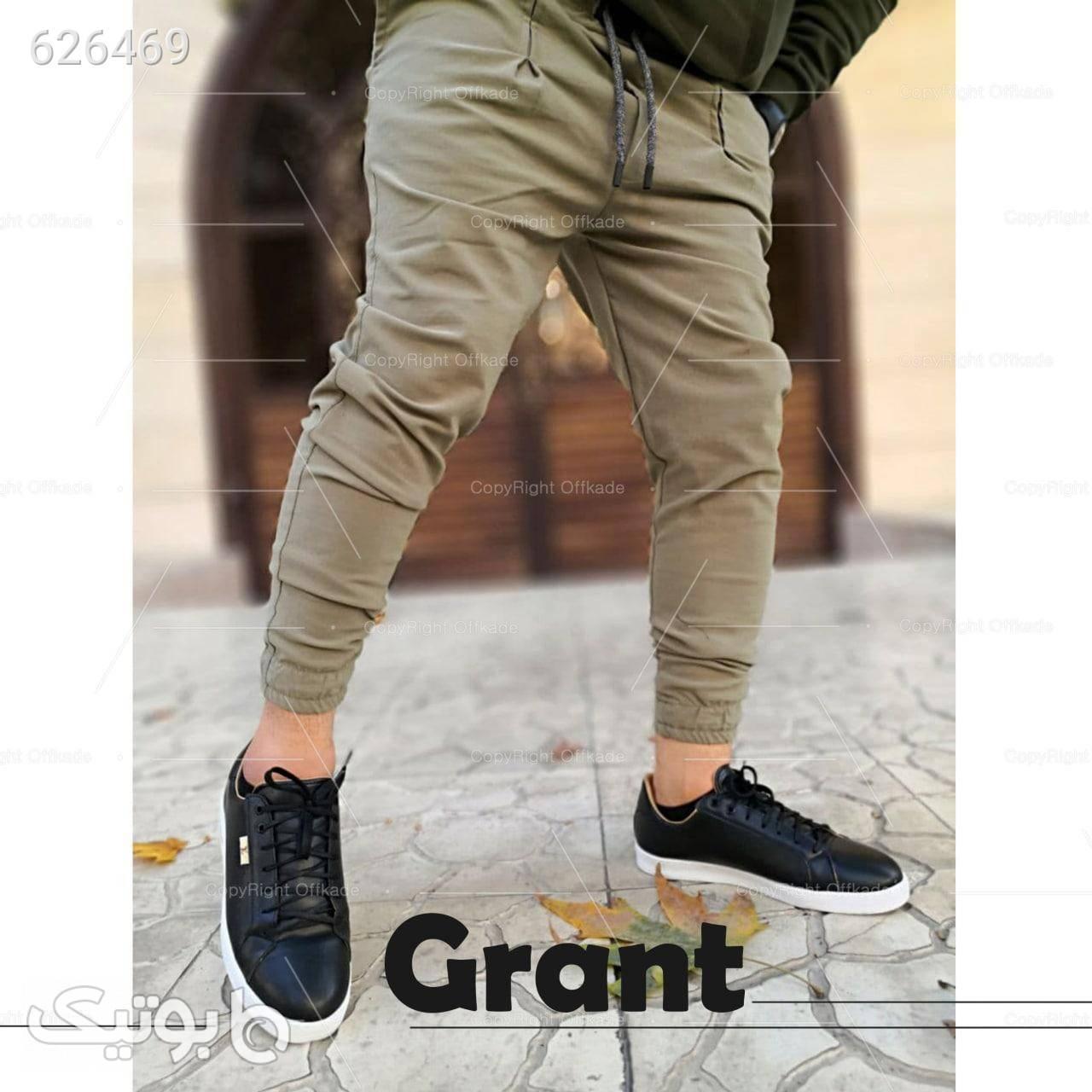 شلوار کتان کش مردانه مدل Grant کرم شلوار مردانه پارچه ای و کتان مردانه