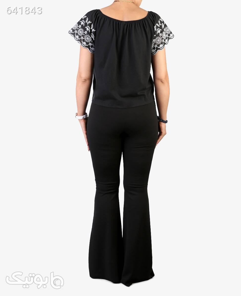 شلوار دم پا گشاد زنانه مدل 7058سرمه ایتک سایز مشکی شلوار پارچه ای و کتانی زنانه
