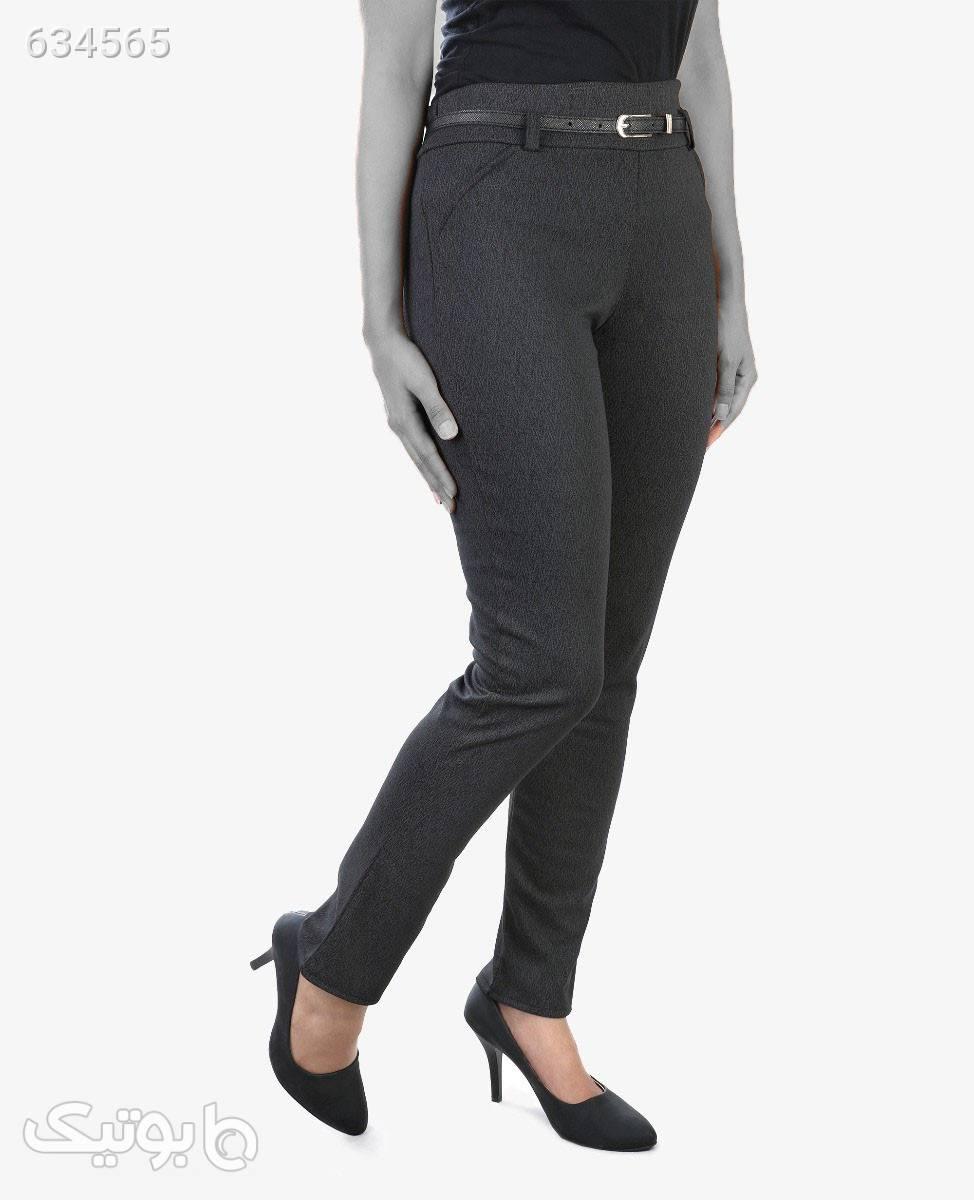 شلوار راسته زنانه Tonda مدل 1563ذغالیM شلوار پارچه ای و کتانی زنانه