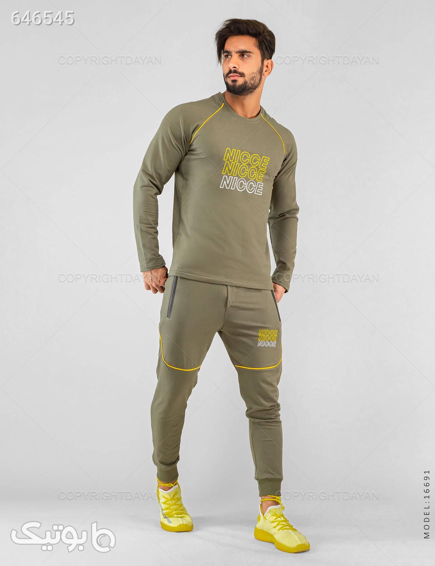 ست بلوز و شلوار مردانه Nicce مدل 16691 سبز لباس راحتی مردانه