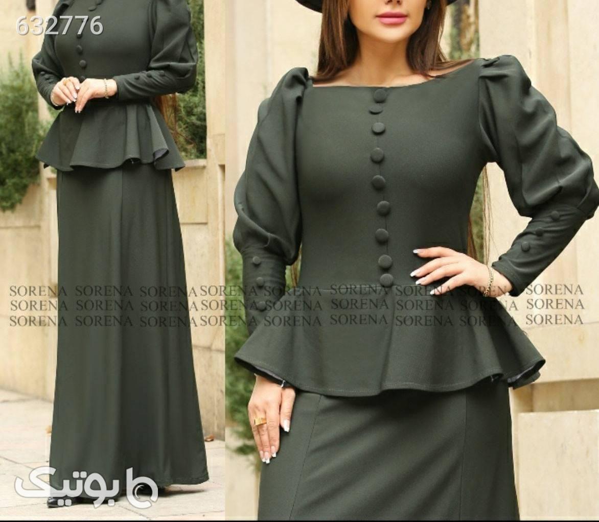 لباس بلند مجلسی سبز لباس  مجلسی