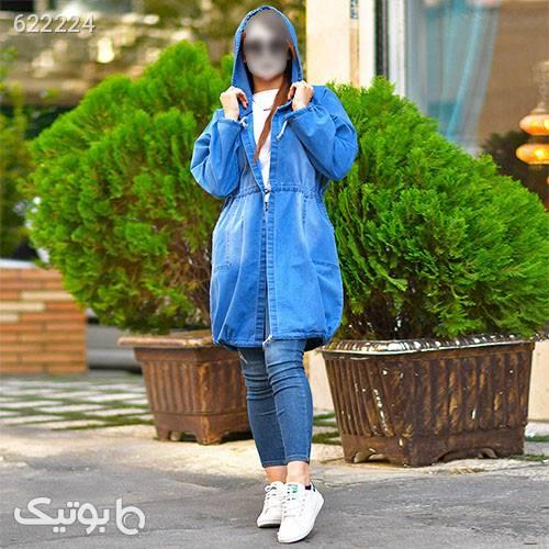 مانتو لي دخترانه مدلPaliz آبی مانتو