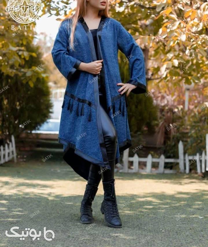 مانتو مدل منگوله آبی مانتو