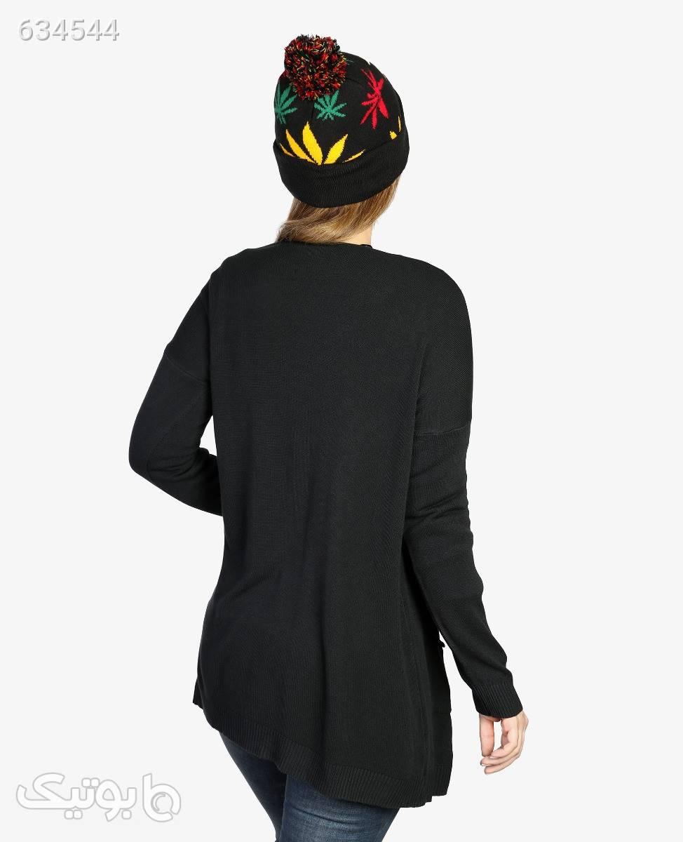 ژاکت بافت درشت زنانه Maglificio مدل B1946مشکیتک سایز پلیور و ژاکت زنانه