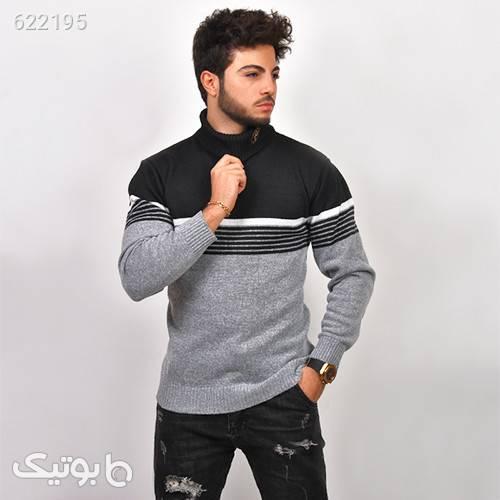 پليور بافت مردانه مدل Afraz طوسی پليور و ژاکت مردانه