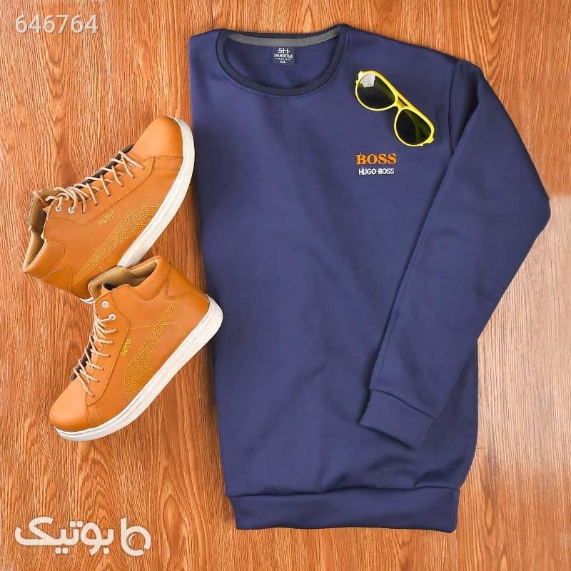 پلیور مردانه باس سایز XL - 2XL سورمه ای پليور و ژاکت مردانه