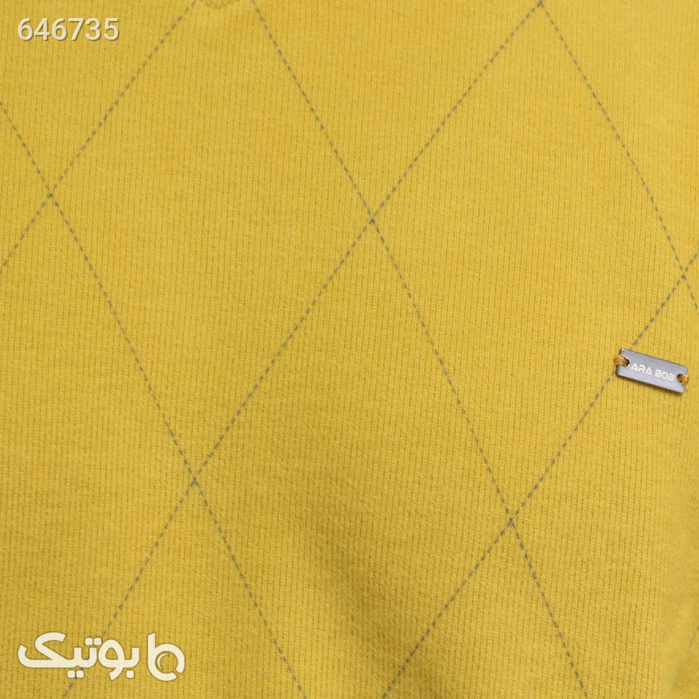 پلیور یقه هفت کد محصول sveat3317 طلایی پليور و ژاکت مردانه