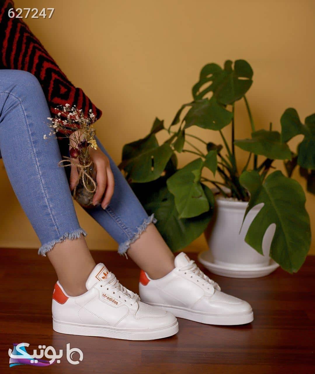 کفش دخترانه اسپرت ادیداس سفید كتانی زنانه