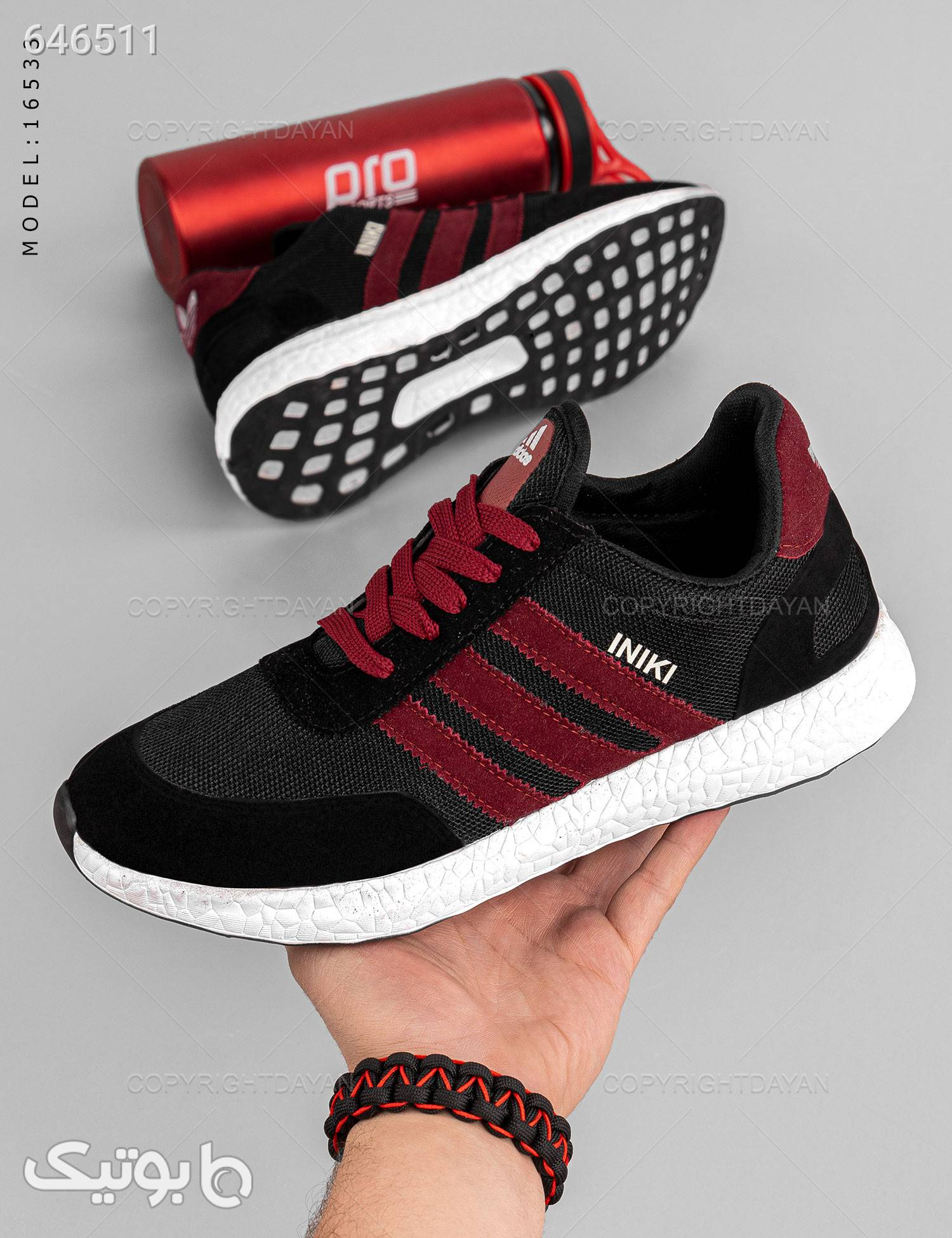 کفش مردانه Adidas مدل 16533 مشکی كتانی مردانه