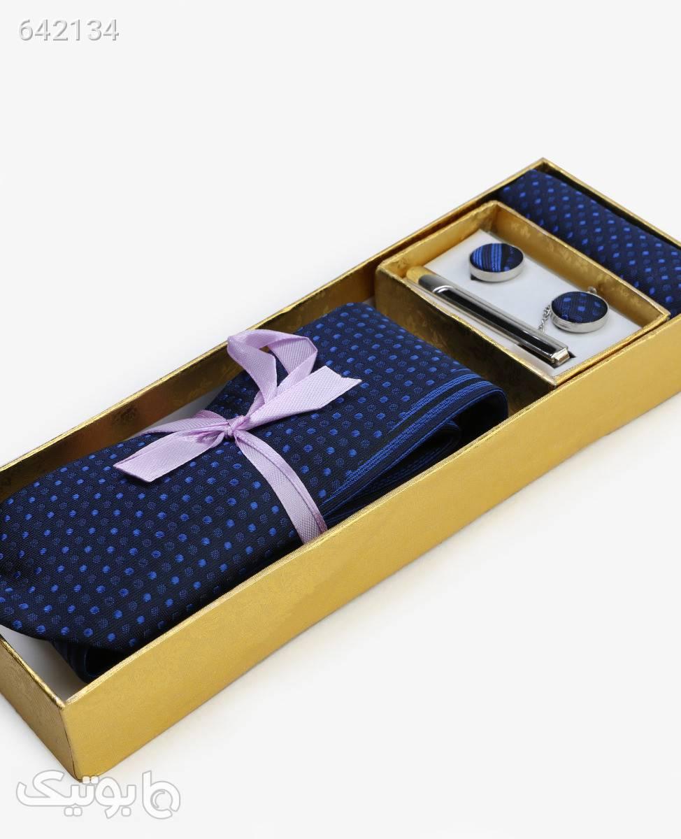 ست کراوات طرح دار مردانه مدل 5861سرمه ای سورمه ای كراوات و پاپيون