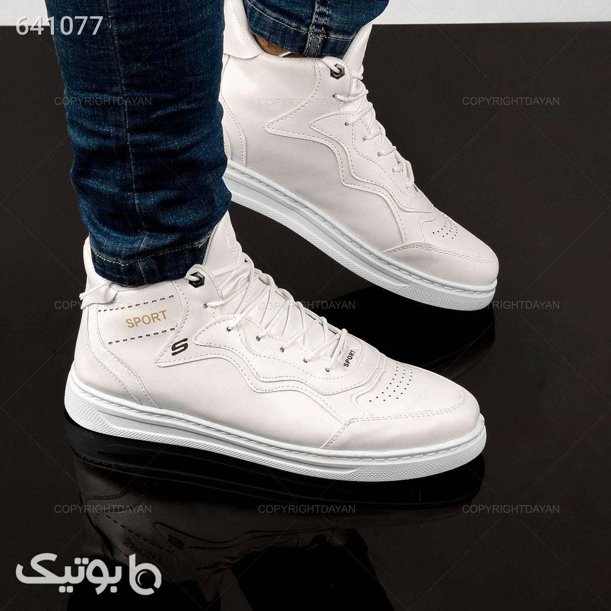 حراج کفش ساقدار اسکیچرز  سفید كفش مردانه